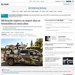 Michoacán registra su mayor alza en homicidios en cinco años