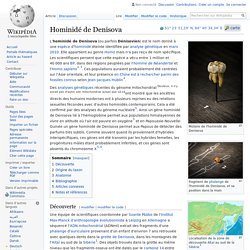 Hominidé de Denisova