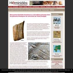 Des hominidés en Inde il y a 2,6 million d'années