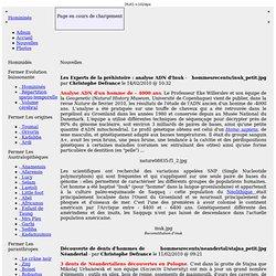 Publication de l'étude complète sur Ardipithecus ramidus