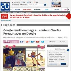 Google rend hommage au conteur Charles Perrault avec un Doodle