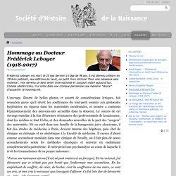 Hommage au Docteur Frédérick Leboyer (1918-2017)