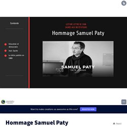 Hommage Samuel Paty by eliprandi on Genially