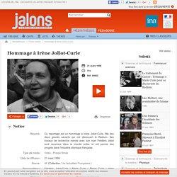 Hommage à Irène Joliot-Curie