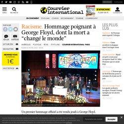 """Hommage poignant à George Floyd, dont la mort a """"changé le monde"""""""