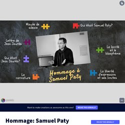 Hommage: Samuel Paty by M. Rougier on Genially
