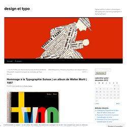 Hommage à la Typographie Suisse