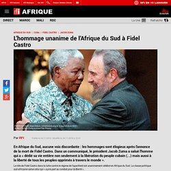 L'hommage unanime de l'Afrique du Sud à Fidel Castro