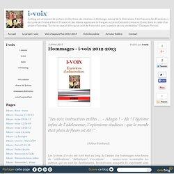 Hommages - i-voix 2012-2013