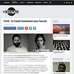 PUB FCUK : HOMME ET FEMME FRENCH CONNECTION 2010