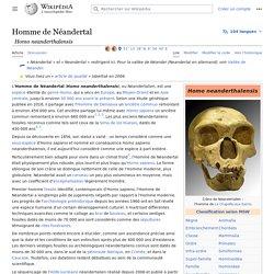 Homme de Néandertal