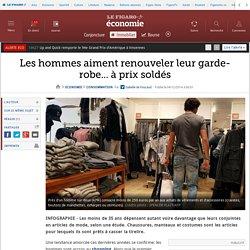 Les hommes aiment renouveler leur garde-robe... à prix soldés