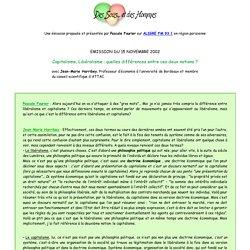 Des sous et des hommes - emission du 15 novembre 2002
