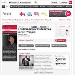 Le stress au travail 09.03.2013 - rts.ch - audio - la 1ère