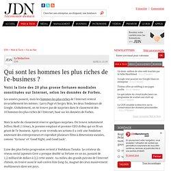 Qui sont les hommes les plus riches de l'e-business ?