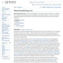Homo homini lupus est