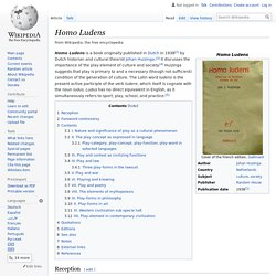 Homo Ludens - Wikipedia (Annotated)