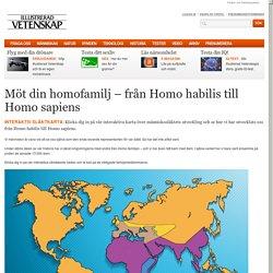 Möt din homofamilj – från Homo habilis till Homo sapiens