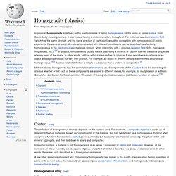 Homogeneity (physics)