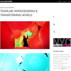 teamLab: Homogenizing & Transforming World