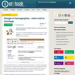 Google et homographes : entre troll et chantage