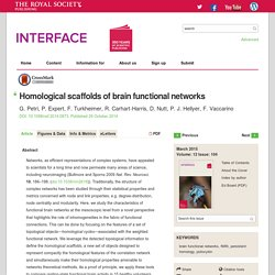 Homological scaffolds of brain functional networks