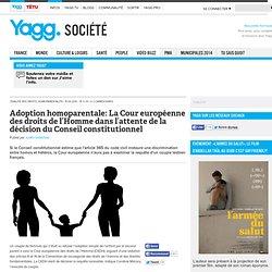 Adoption homoparentale: La Cour européenne des droits de l'Homme dans l'attente de la décision du Conseil constitutionnel