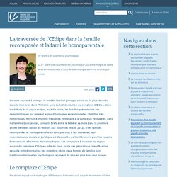 La traversée de l'Œdipe dans la famille recomposée et la famille homoparentale - View - Ordre des Psychologues du Québec