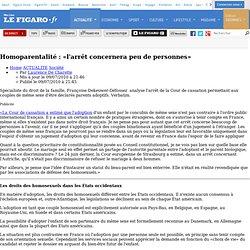 France : Homoparentalité : «l'arrêt concernera peu de personnes»