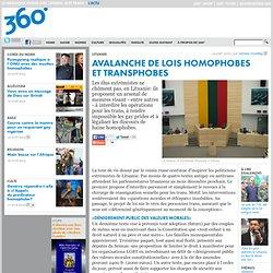 mobile » Avalanche de lois homophobes ettransphobes