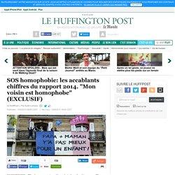 """SOS homophobie: les accablants chiffres du rapport 2014. """"Mon voisin est homophobe"""" (EXCLUSIF)"""