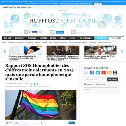 Rapport SOS Homophobie: des chiffres moins alarmants en 2014 mais une parole homophobe qui s'installe