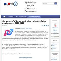 Concours d'affiches contre les violences faites aux femmes, 2019-2020