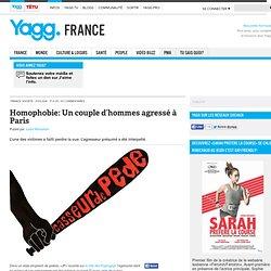 Homophobie: Un couple d'hommes agressé à Paris