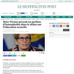 Mme Wynne perçoit un parfum d'homophobie dans le débat sur l'éducation sexuelle
