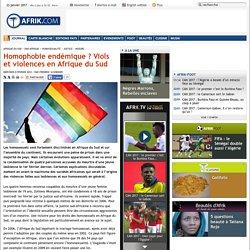 Homophobie endémique ? Viols et violences en Afrique du Sud - Afrik.com : l'actualité de l'Afrique noire et du Maghreb