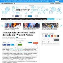 Homophobie à l'école : la feuille de route pour Vincent Peillon