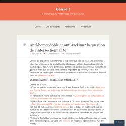 Anti-homophobie et anti-racisme: la question de l'intersectionnalité | Genre!
