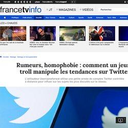 Rumeurs, homophobie : comment un jeune troll manipule les tendances sur Twitter