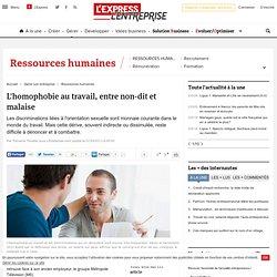 L'homophobie au travail, entre non-dit et malaise