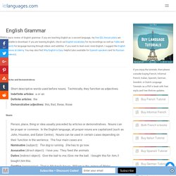 English Grammar Review including Parts of Speech, Spelling Rules, and Homophones - ielanguages.com