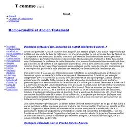 Homosexualité et Ancien Testament