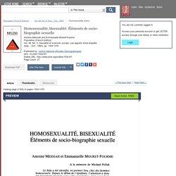 Homosexualité, bisexualité: Éléments de socio-biographie sexuelle on JSTOR