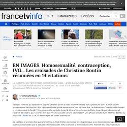 EN IMAGES. Homosexualité, contraception, IVG... Les croisades de Christine Boutin résumées en 14 citations