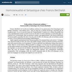 Homosexualité et fantastique chez Francis Berthelot