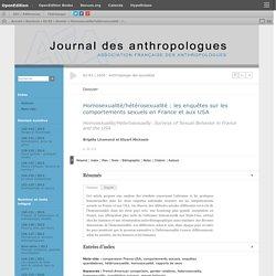 Homosexualité/hétérosexualité: les enquêtes sur les comportements sexuels en France et aux USA