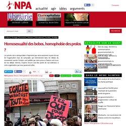 Homosexualité des bobos, homophobie des prolos ?