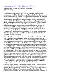 Homosexuality in Ancient Egypt by Bruce Gerig