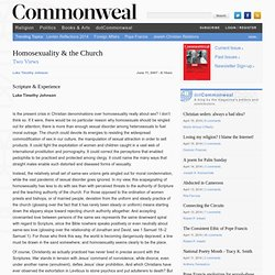 Homosexuality & the Church