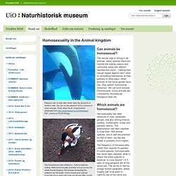 Against nature? - Naturhistorisk Museum